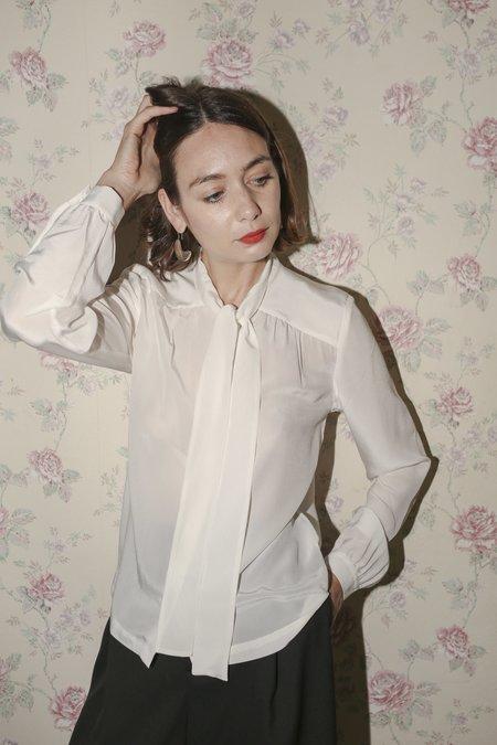 Rodebjer Linn Silk Top in Off-White