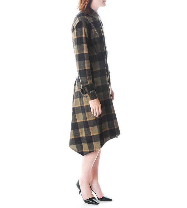 3.1 Phillip Lim Asymmetrical Plaid Dress w Shirt Collar