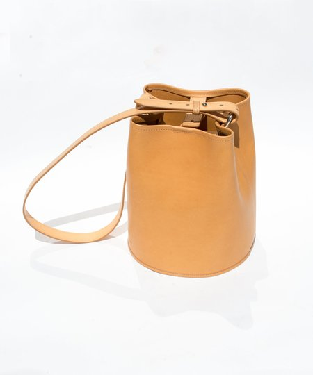 Creatures of Comfort Small Natural Saddle Leather Bucket Bag