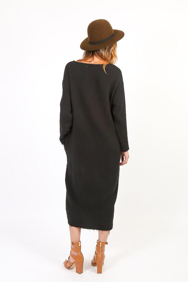 Black Crane Quilt Long Dress