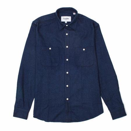 Corridor 2 Pocket Brushed Blue Flannel Shirt