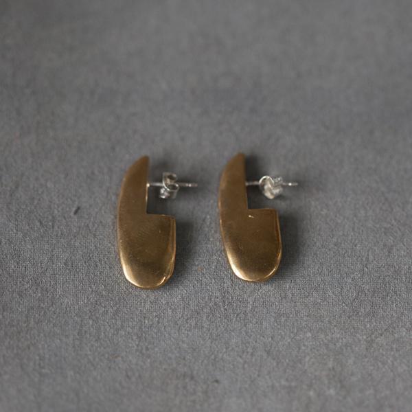 Seaworthy Nina Earrings in Brass