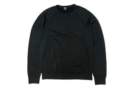 Save Khaki Supima Fleece Crew - Slate