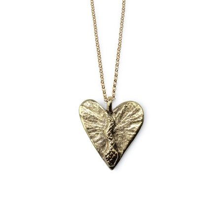 Amanda Hunt Brass Dweller Of My Heart Necklace