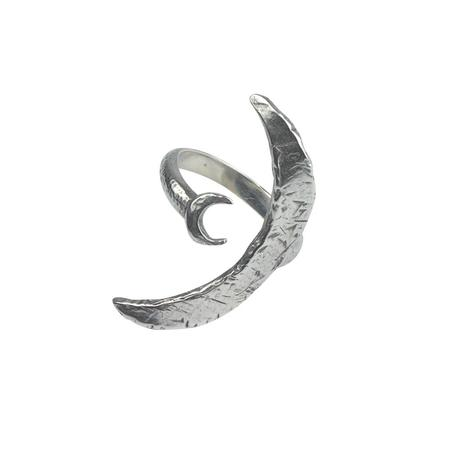 Amanda Hunt Silver Two Moon Ring
