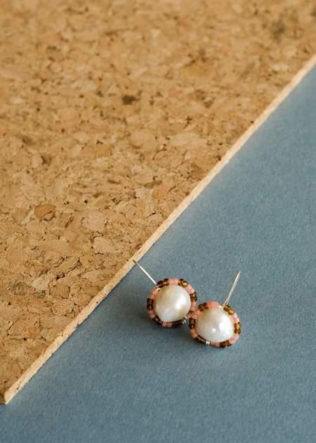 Zelda Murray Pearl Earrings - Pink/Rootbeer