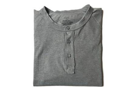 Save Khaki Heavy Heather Jersey Henley - Grey