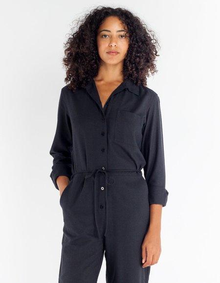 Ozma Wide Leg Boilersuit - Black