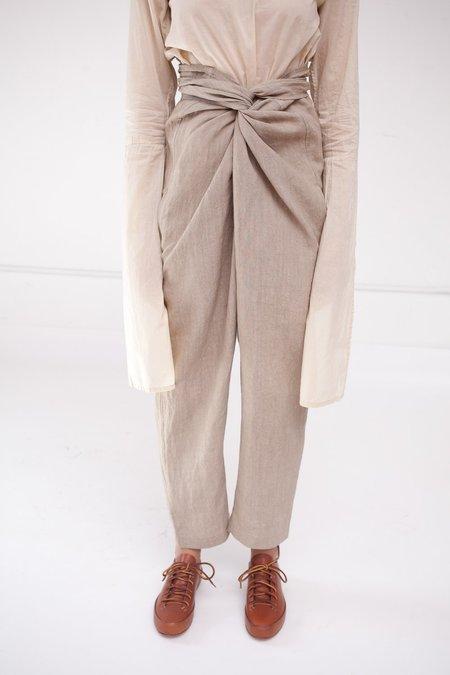 Cosmic Wonder Linen Wrapped Pants in Beige