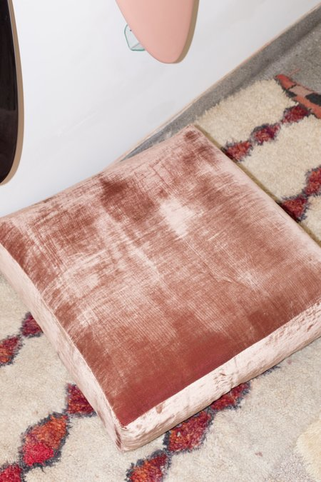 Heidi Merrick Velvet Floor Pillow - Rose
