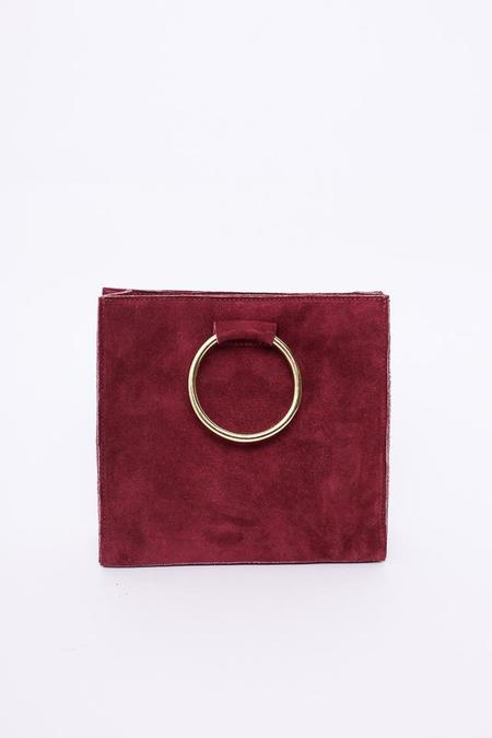 Ceri Hoover Simone Ring Handle Bag in Bayberry