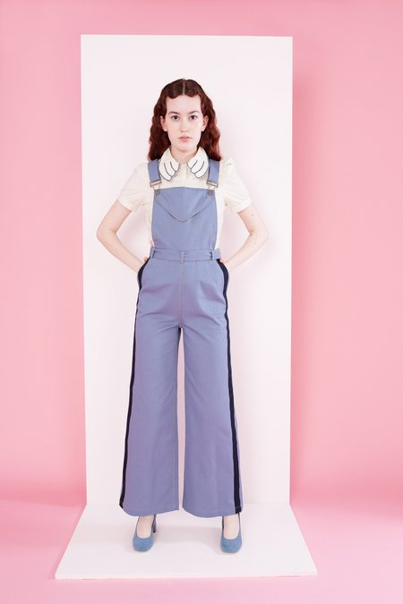 Samantha Pleet Post Overalls - Postal Blue
