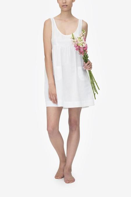 Monika Hibbs x The Sleep Shirt Pocket Nightie White Linen Blend