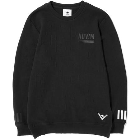 ADIDAS ORIGINALS BY WHITE MOUNTAINEERING CREW SWEAT - BLACK
