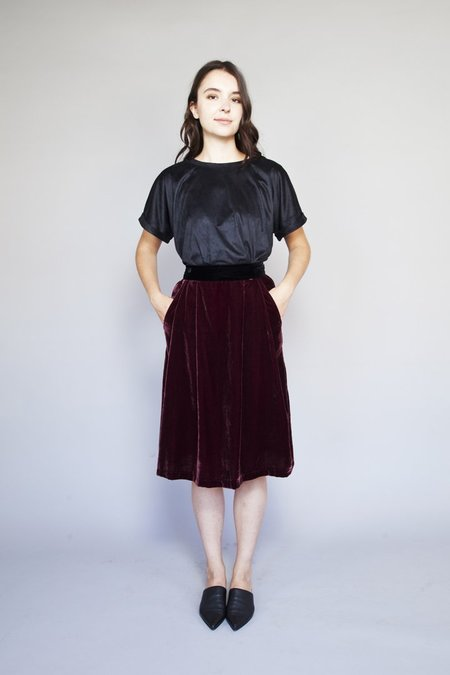 Allison Wonderland Cross Skirt - Burgundy