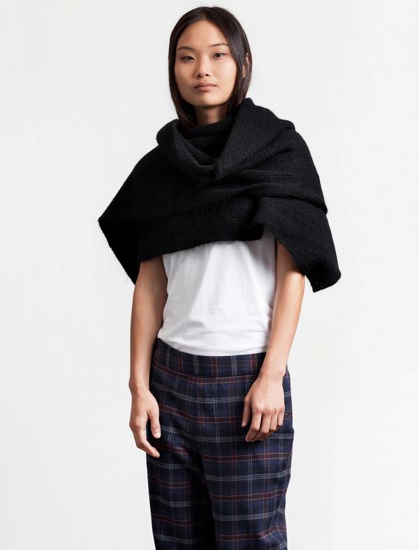 Acne Studios Womens Vilia Mohair Scarf Black