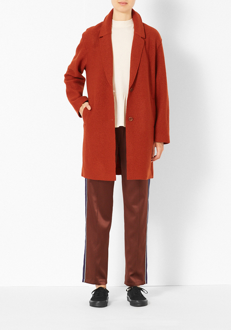 You Must Create Felt Wool Coat - Orange