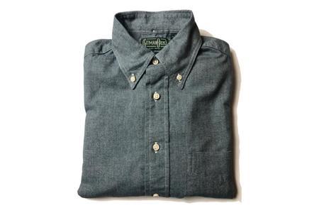 Gitman Vintage Blue Chambray Flannel