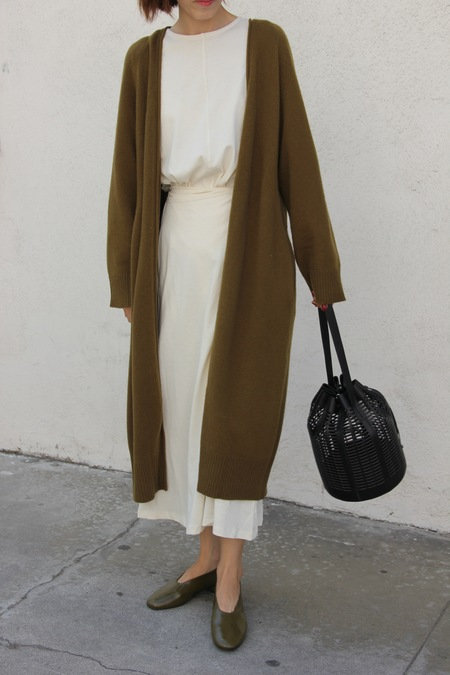 Talk Service Wool Cashmere Blend Long Cardigan