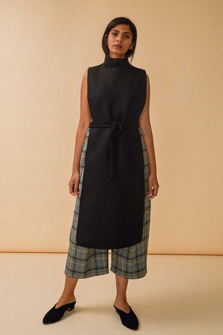 Wolcott : Takemoto Wayne Dicky Dress in Black Matelasse