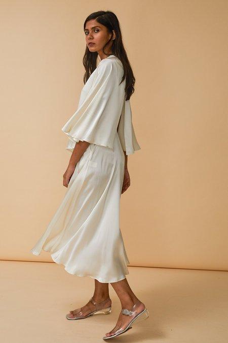 Wolcott : Takemoto Kepu Dress in Cloud Silk Charmeuse