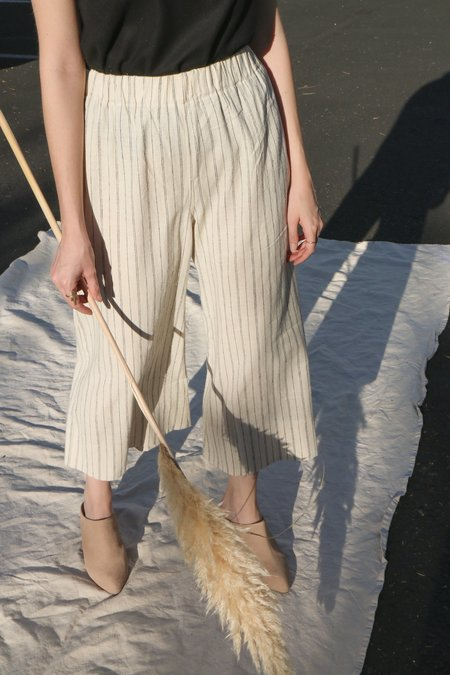 Lauren Winter Wide Pant in Ivory Stripe