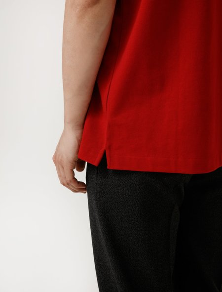 Lemaire Mens Heavy Tee-Shirt - Red