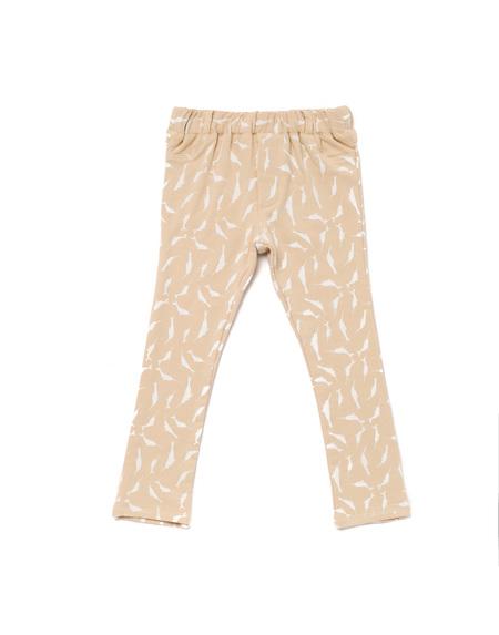 Kid's OMAMImini Skinny Pants w/ Small Narwhals Print Dusty Pink
