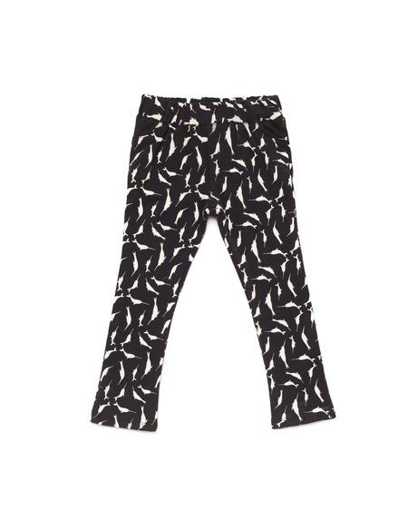 Kid's OMAMImini Skinny Pants w/ Small Narwhals Print Slate
