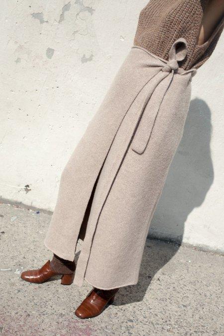 Lauren Manoogian Blanket Skirt in Haystack