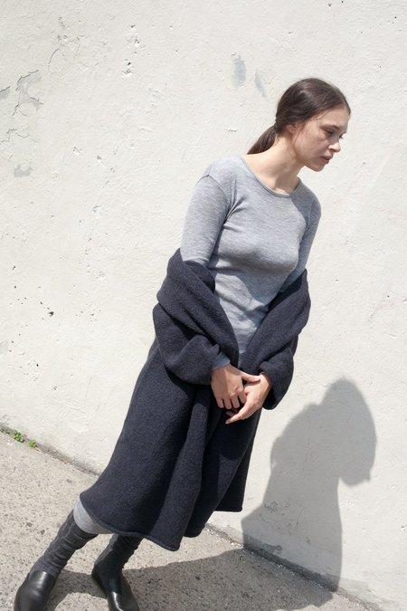 Lauren Manoogian Fine Rib Dress in Heather Grey
