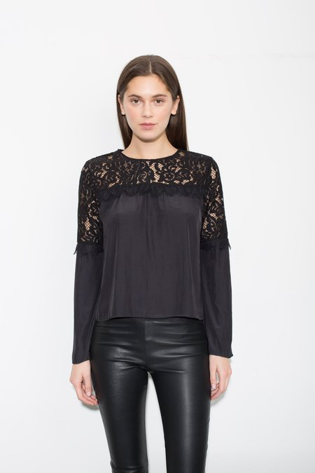 Generation Love Hazel Lace Ruffle L/S - Black