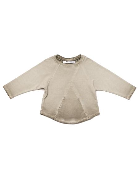 Kid's OMAMImini Terry Longsleeve Sweatshirt w/ Front Pocket Vintage Grey