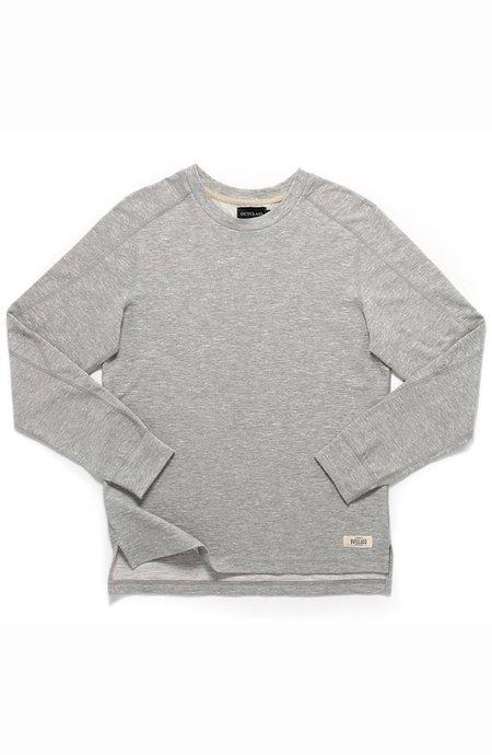 Outclass Heather Slub Paneled T-Shirt - Grey