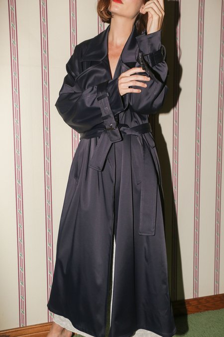 NOMIA Oversized Trench in Midnight