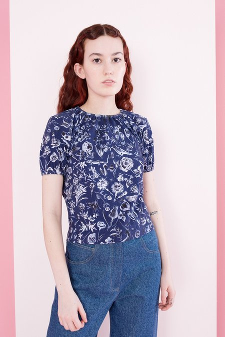 Samantha Pleet Yours Truly Shirt - Blueprint Floral