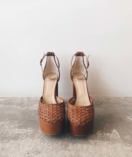 Brother Vellies Woven Oracle Mary Janes in Whiskey