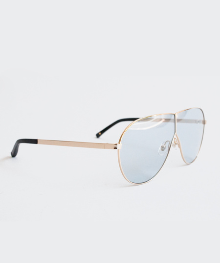 Prism Visor Aviator Sunglasses - Blue
