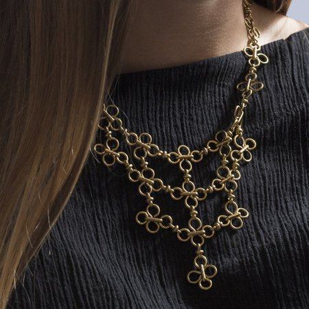 Marijke Bouchier 'Clover Chainmail Necklace'
