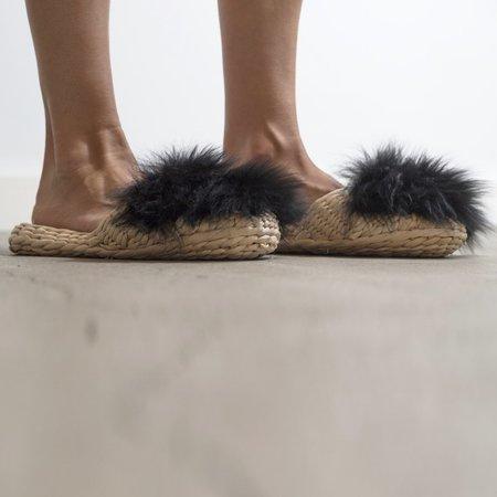 Folk Fortune Fur Slippers