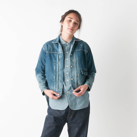 CHIMALA 13oz Selvedge Denim Jacket in Vintage