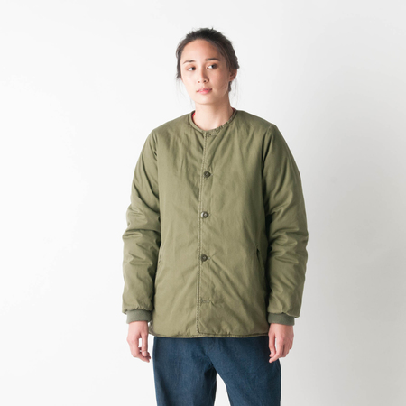 CHIMALA GI Poplin Military Padded Jacket in Khaki Green