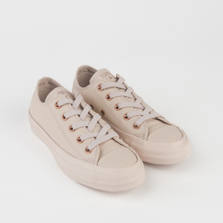 CONVERSE Mono Leather Chuck Taylor All Star Ox in Sand Dollar