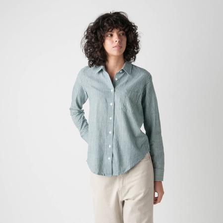 UMBER & OCHRE Cotton Bengal Stripe Button Up Shirt