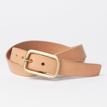 KIKA NY Square Buckle with 1.25 Wide Belt in Natural