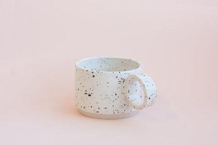 YYY Small White Speckled Mug
