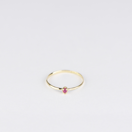 SATOMI KAWAKITA Polaris Ruby Ring in 18K Yellow Gold
