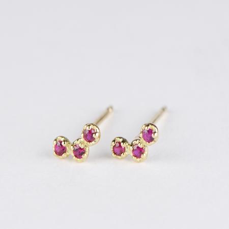SATOMI KAWAKITA Orion Ruby Stud Earrings in 18K Yellow Gold