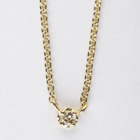 Satomi Kawakita Polaris Brown Diamond Necklace in 18K Yellow Gold