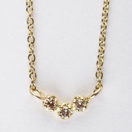 SATOMI KAWAKITA Orion Brown Diamond Necklace in 18K Yellow Gold